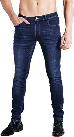 ZLZ Slim Fit Jeans, Men's Younger-Looking Fashionable Colorful Super Comfy Stretch Skinny Fit Denim Jeans…