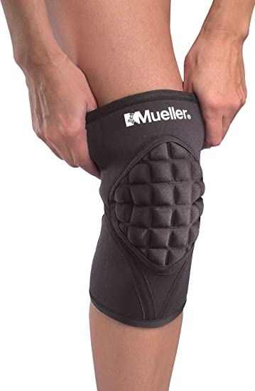mueller shokk knee pads 1 pair black medium