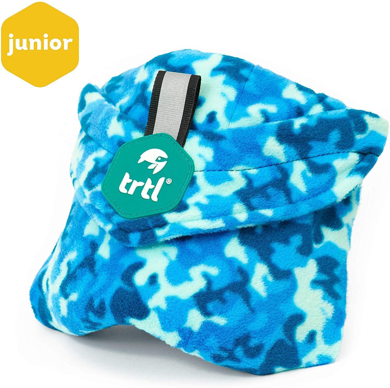 Trtl Pillow - Scientifically Proven Super Soft Neck Support Travel Pillow - Machine Washable (Sea Camo)