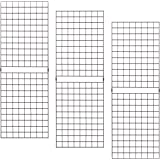 Econoco PGP26B Portable 2' X 6' Black Grid Panels-Pack of 3