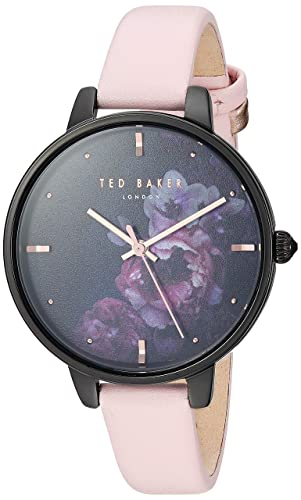 5f6ea77f8 Ted Baker Ladies Watch Black Floral Dial Pink Strap TE50005020   Amazon.co.uk  Watches
