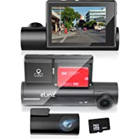 Elinz 4K Ultra HD Dual Dash Cam 3 inch OLED Touch Screen WiFi Reverse Camera Rear 140 Degree GPS Sony Super Capacitor…