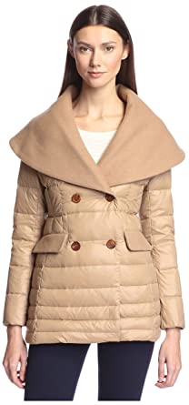 new arrival 970d1 60cce HAPPY GOAT LUCKY Women s Cassidy Wool   Down Mixed Media Coat, ...