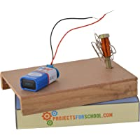 ProjectsforSchool Making Magnet with Electric Current School Science Project Working Model, DIY Kit, Science Game (Multicolored)