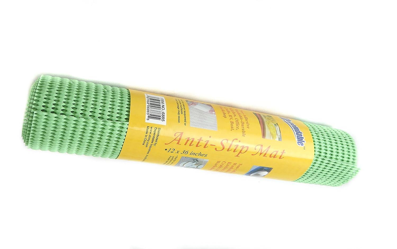 Anti-Slip Mat under rug grip Non Skid - Shelf and Drawer Liner 12' x 36' - Trim to Fit - Green