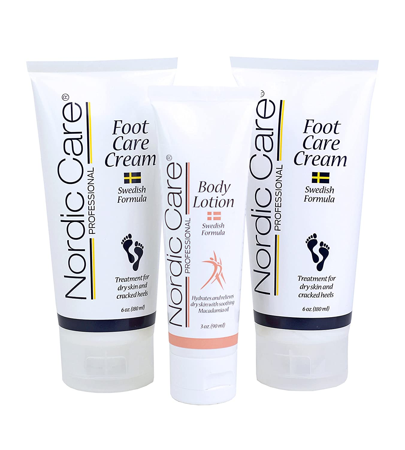 Nordic Care Foot Care Cream 6 oz. (Pack of 2) Plus Body Lotion