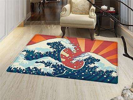 Amazon.com: smallbeefly japonés dragón Felpudo alfombra ...
