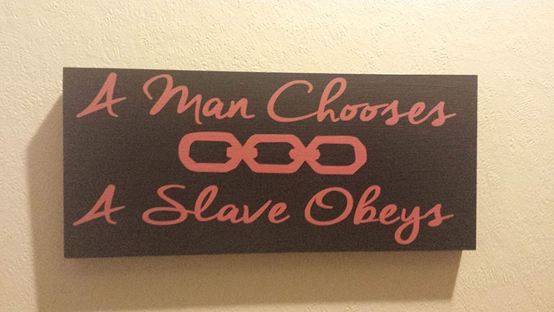 Amazoncom A Man Chooses A Slave Obeys Bio Shock Fan