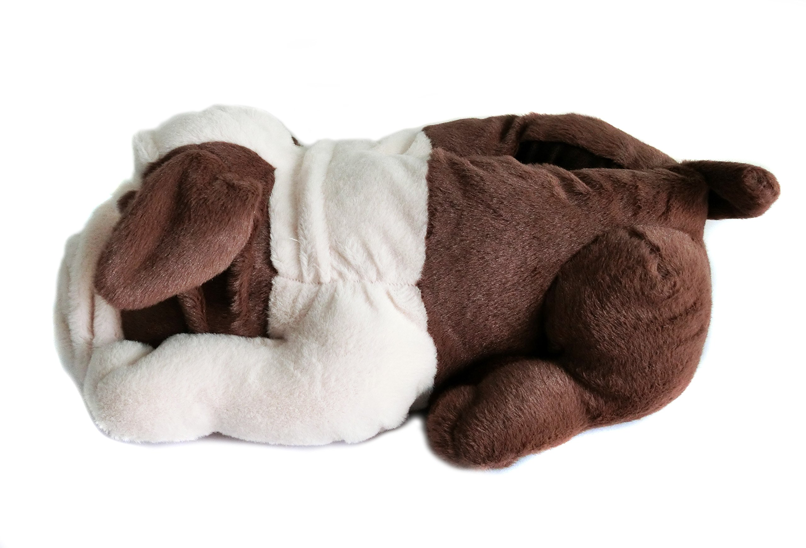 Fuzzy Winter Indoor Animal Bulldog Slippers for Adult and Kid, Bull Dogs (US Women Size 7-9, Coffee Bulldog) by Onmygogo (Image #5)