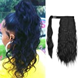 SEIKEA 16 Inch Clip in Ponytail Extension Wrap Around Long Wavy Curly Pony Tail Hair Fluffy Synthetic Hairpiece for…