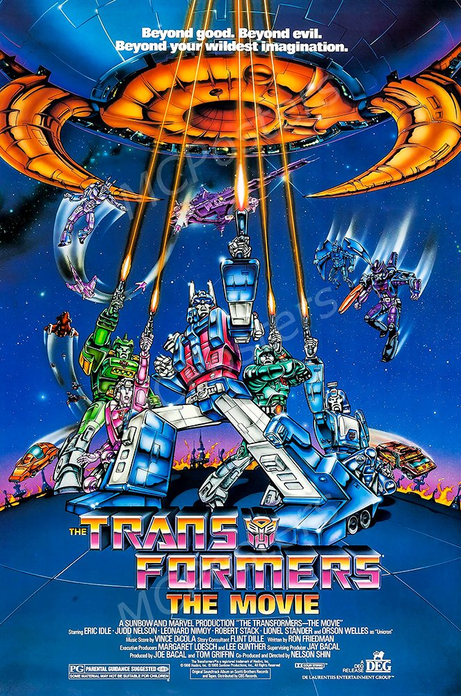 """MCPosters The Transformers The Movie 1986 GLOSSY FINISH Movie Poster - MCP493 (24"""" x 36"""" (61cm x 91.5cm))"""