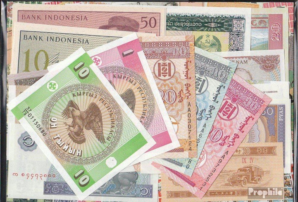 Prophila billetes para coleccionistas: Asia 20 diferentes billetes