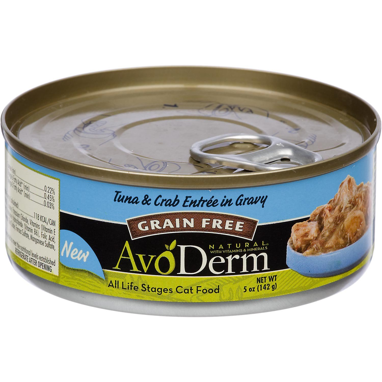 AvoDerm Natural Grain Free Tuna & Crab Entree in Gravy Canned Wet Cat Food