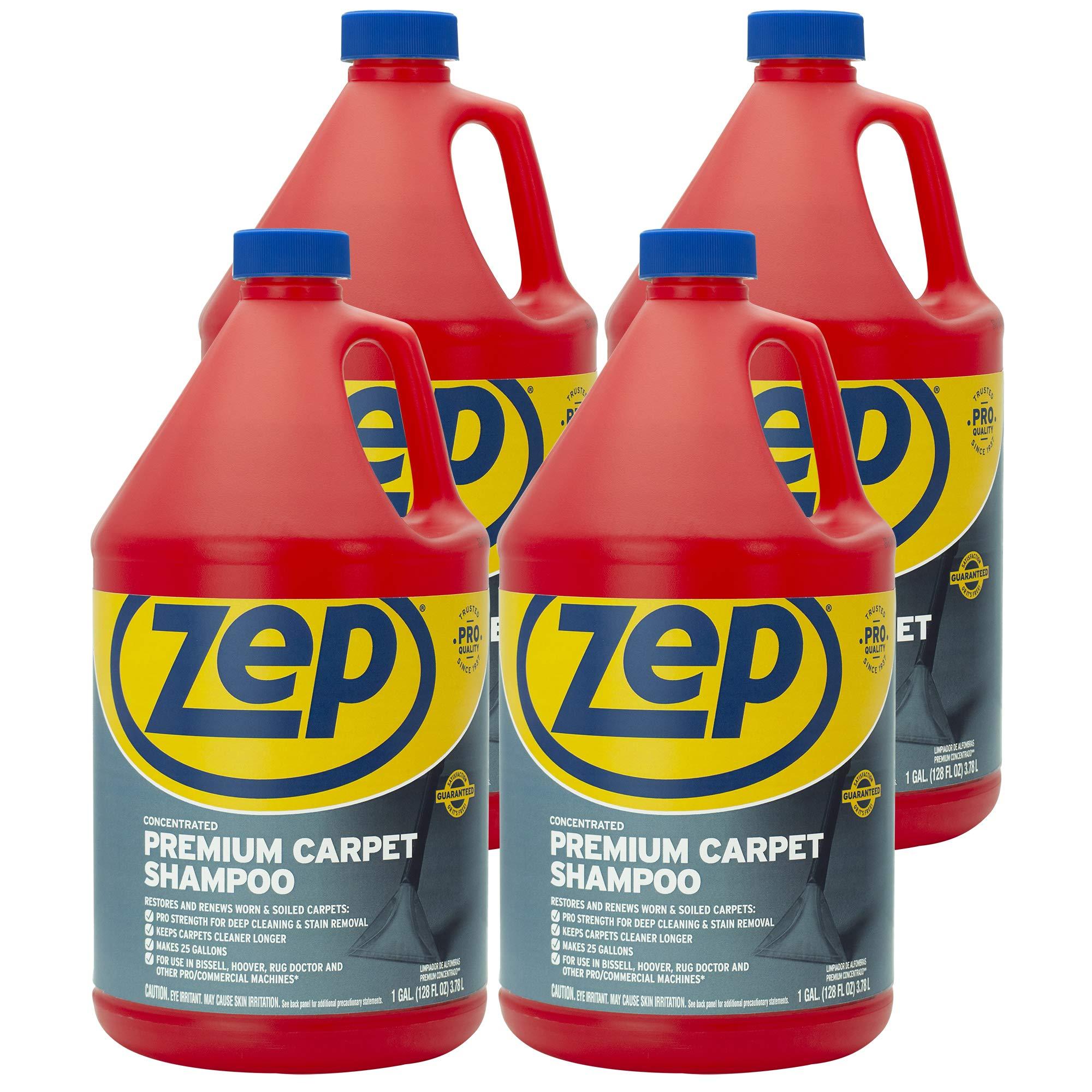 Zep Premium Carpet Shampoo 128 ounce ZUPXC128 (Case of 4)