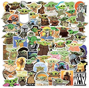 Six Foxes Stickers 72 pcs ,Laptop Stickers Bomb Vinyl Waterproof Stickers Variety Pack for Luggage Computer Skateboard Car Motorcycle Decal for Teens Adults