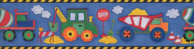 Amazon.com: Black Yellow Toy Construction Trucks Wallpaper Border 5814635:  Kitchen & Dining