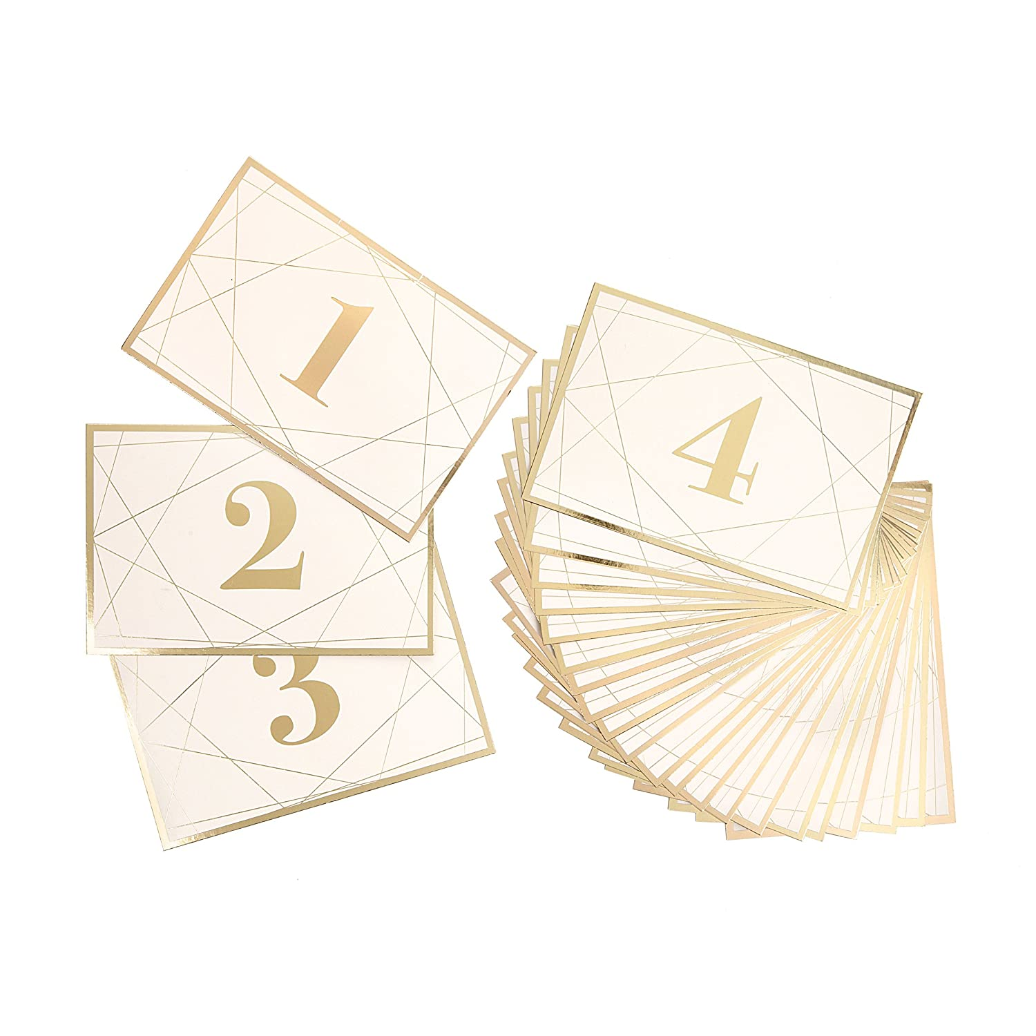 Darice David Tutera Modern Geometric Gold Foil Table Number Cards, 25 Piece 30021647