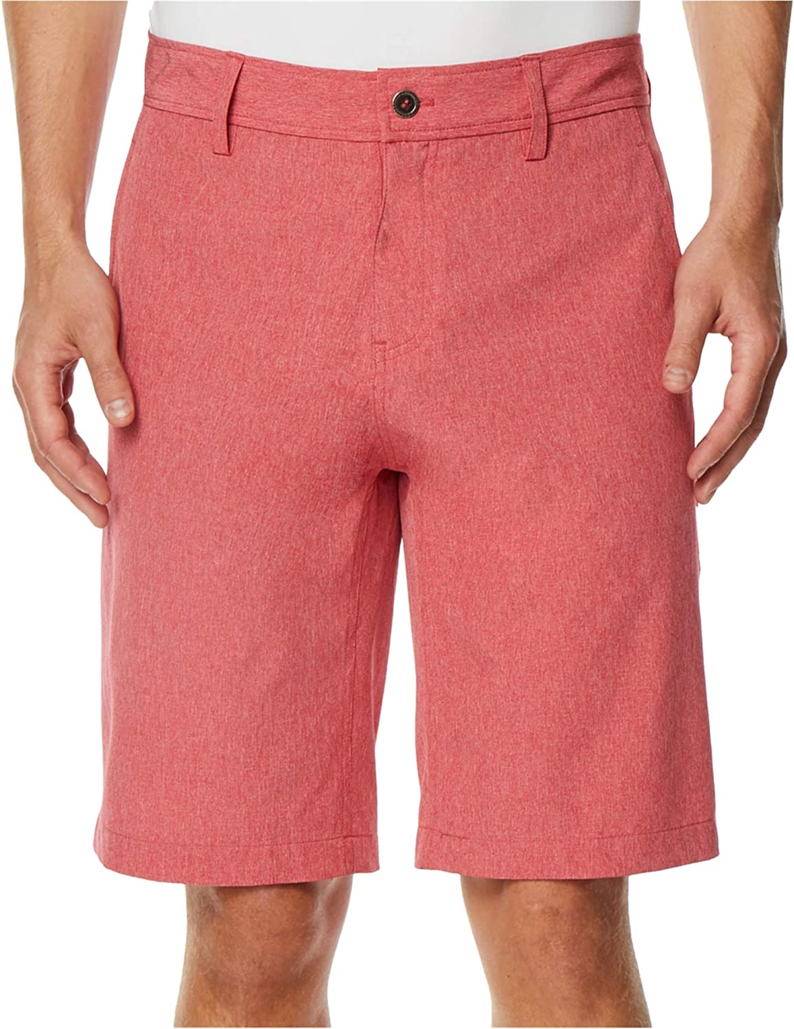 32 DEGREES Mens Heathered Casual Chino Shorts Red 33