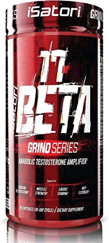 iSatori 17 Beta Testosterone Amplifier With DHEA And Anti-Estrogen Complex For Muscle Growth, Strength Training, Workout Stamina – Vegetarian 90 Capsules