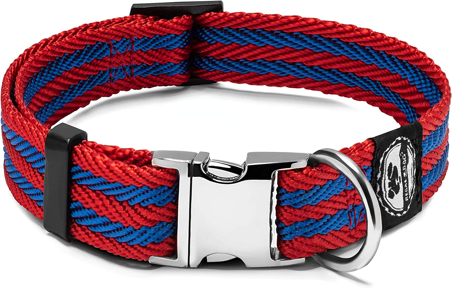 Pet Collar with Metal Buckle and D Ring | Durable Dog Collar with Reinforced Stitching and Nylon Webbing Adjustable Dog Collar to fit Small and Medium Dog or a Puppy