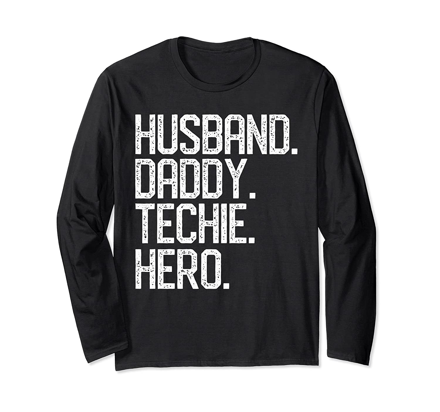 a0bc4e18 Amazon.com: Father's Day Gift Shirt HUSBAND DADDY TECHIE HERO Dad Papa:  Clothing