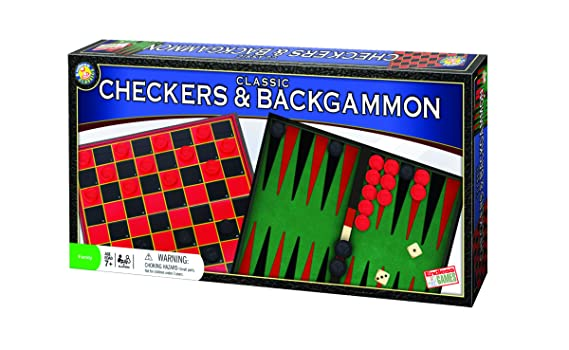 Classic Checkers And Backgammon Board Game