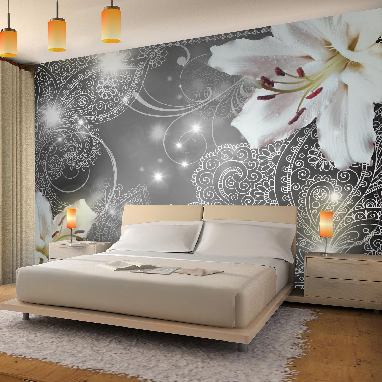 100/% FABRIQU/É EN ALLEMAGNE 9197012b Tapisserie Photo Lis 396 x 280 cm Laine papier peint Salon Chambre Bureau Couloir d/écoration Peinture murale d/écor mural moderne