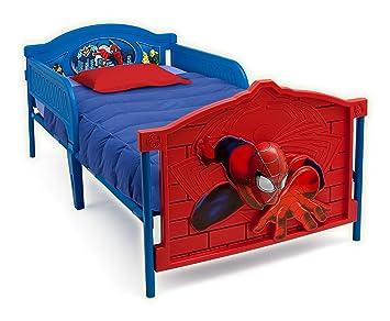 Delta Children Plastic 3D Footboard Twin Bed Marvel Spider Man