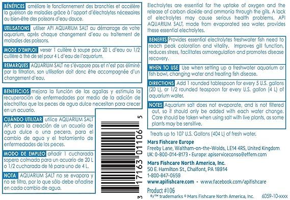 Amazon.com : API Aquarium Salt, 50-Pound Bulk : Aquarium Treatments : Pet Supplies