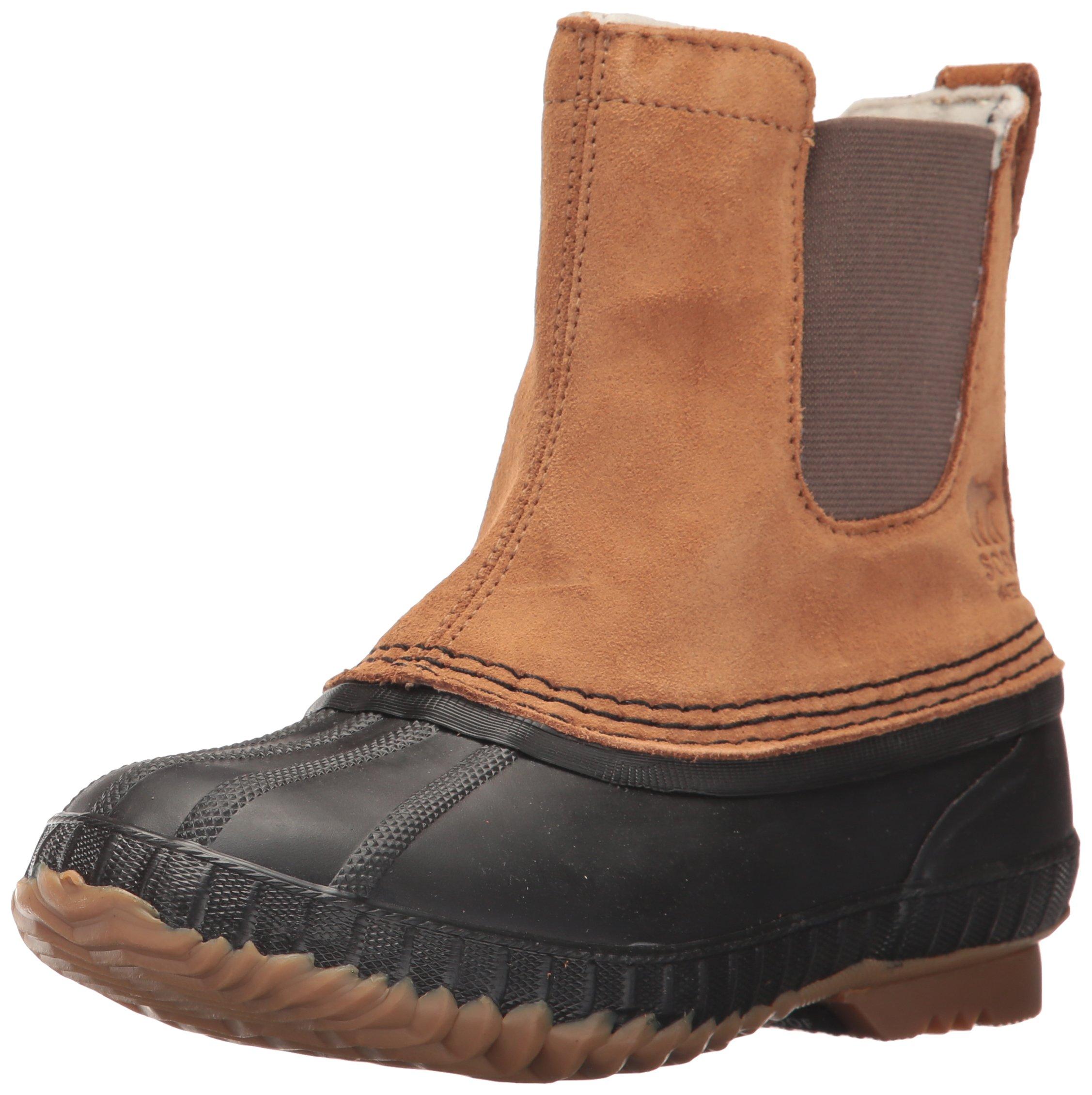 SOREL Boys' Youth Cheyanne II Chelsea Snow Boot, elk, Black, 4 M US Big Kid by SOREL (Image #1)