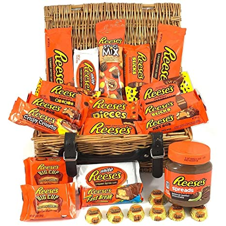 Großer Amerikanische Reeses Schokolade Geschenkkorb     Peanut ...