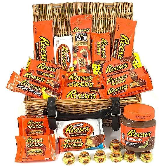 Caja de regalo caramelos Reeses americanos | Chocolate con mantequilla de cacahuete | 25 artículos en