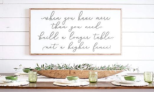 Bruyu5se Cartel de madera con marco rústico, letrero de casa ...