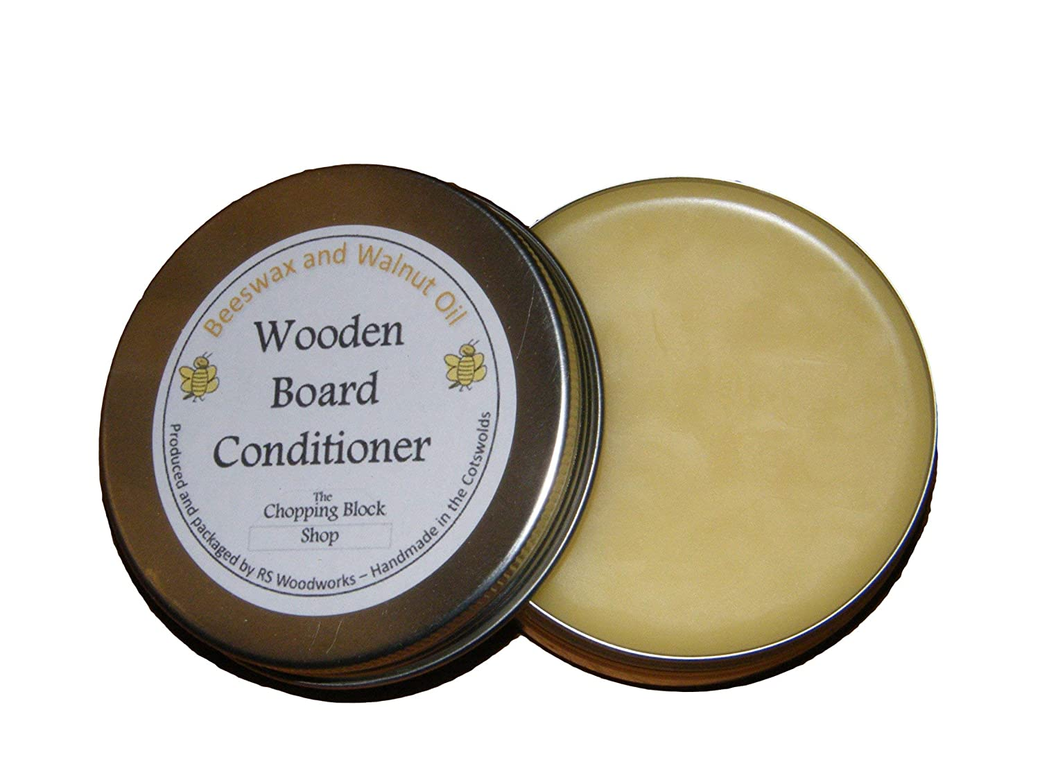 Beeswax and Walnut Oil Polish/Chopping board Conditioning Oil 50g RS Woodworks Ltd