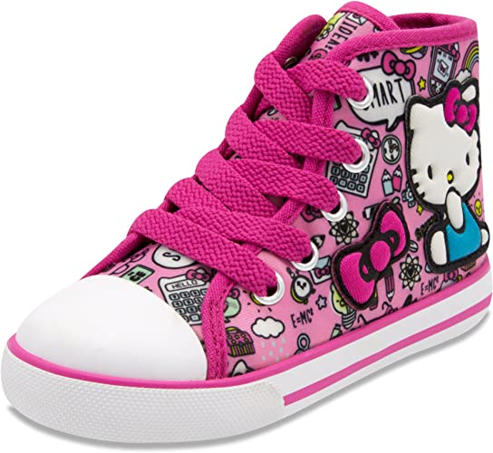 Hello Kitty Shoes Amazon.com | Hello Kitty Lil Avery Lace Up Fashion Sneaker with Embroidered  Logo | Sneakers