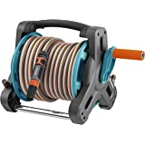 GARDENA Kit dévidoir Classic 10: jeu de tuyaux d'arrosage avec dévidoir et tuyau de 10 m, haute stabilité, adaptateur, lance multijets, poignée de transport, pour terrasses (8010-20)