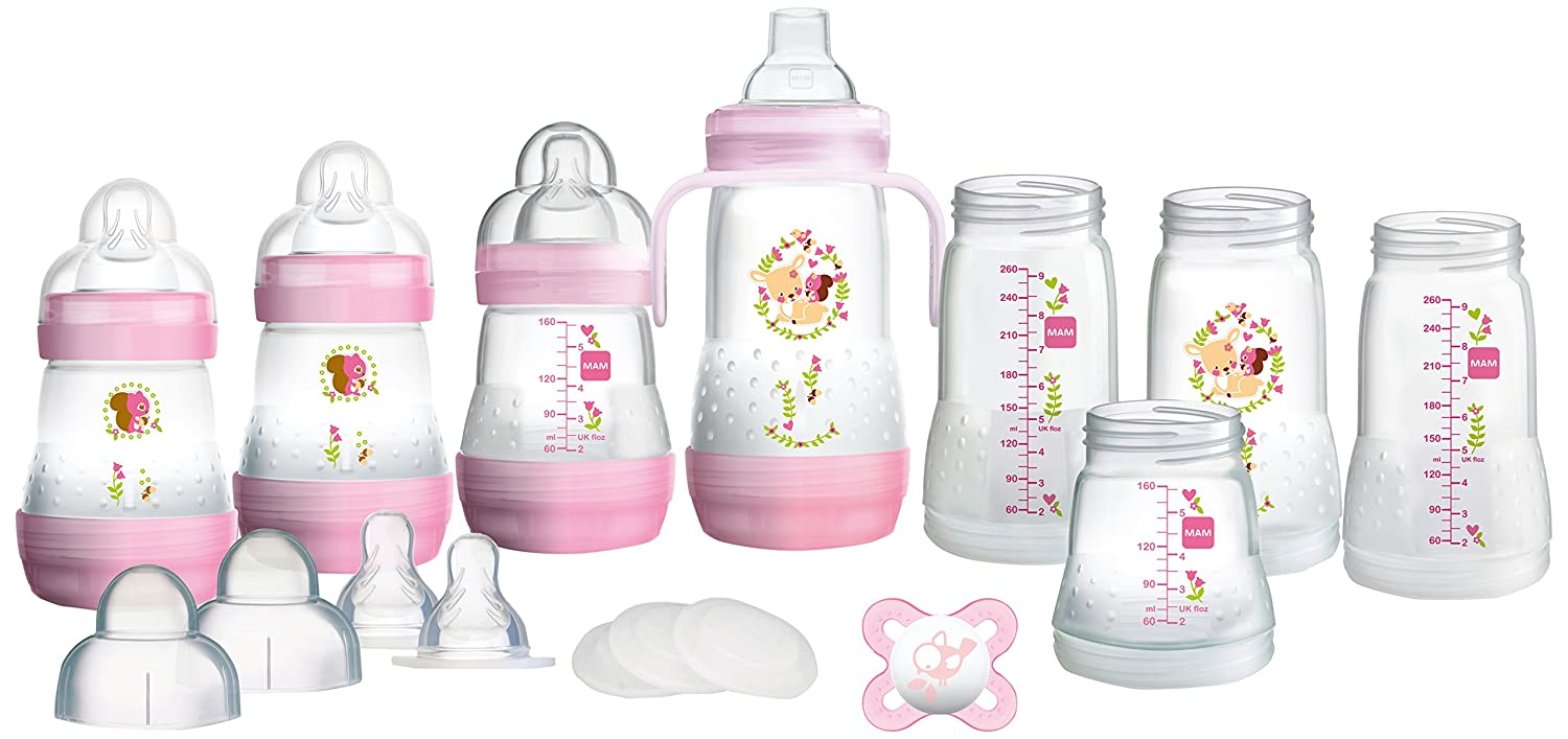 MAM Anti-Colic Self-Sterilising Bottle Starter Set, White Mam UK GP0005W Accessory Consumer Accessories