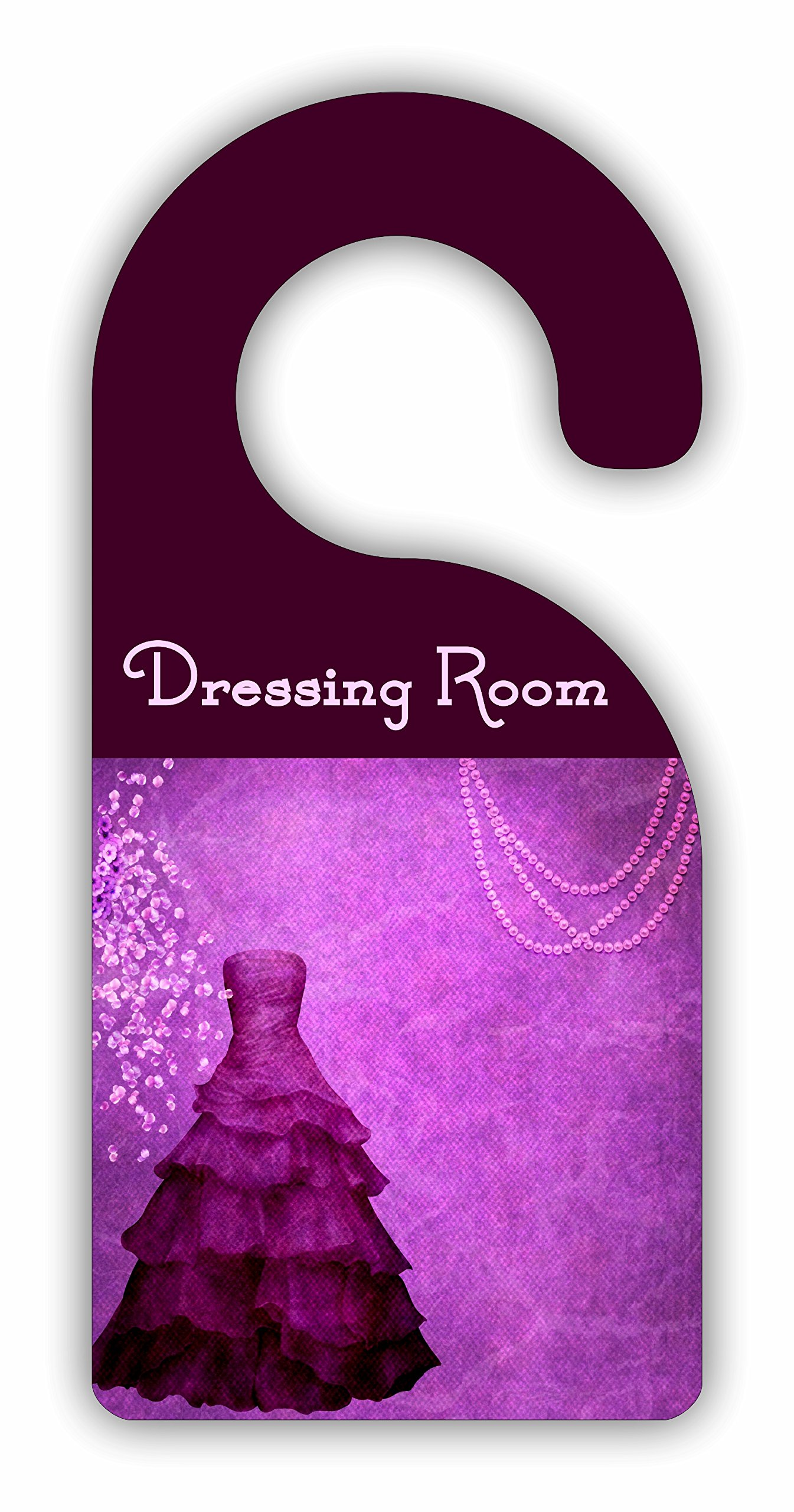 Dressing Room - Purple - Dressing/Closet Room Door Sign Hanger - Hardboard - Glossy Finish