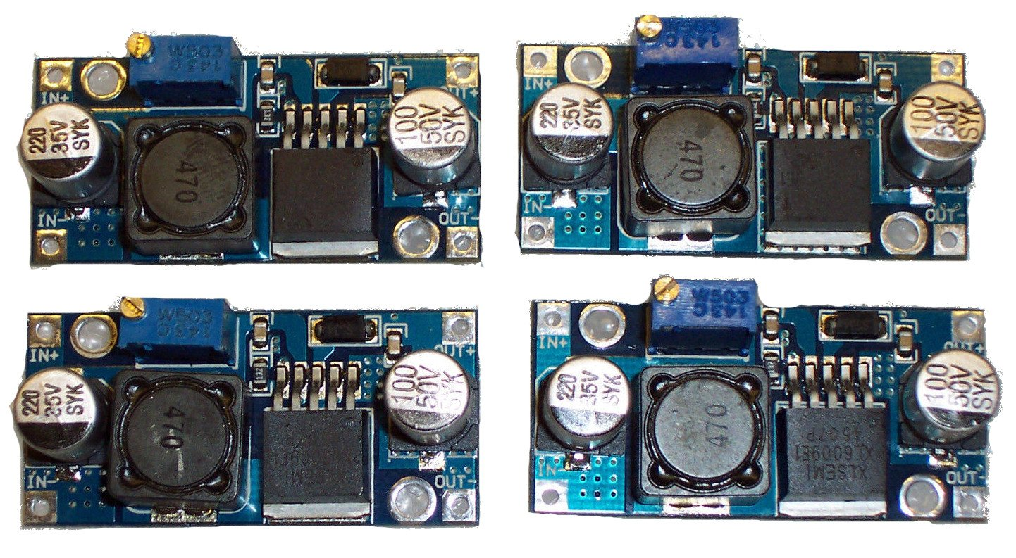 Games&Tech 4 Pcs XL6009 DC-DC Adjustable Step-Up Power Converter Module Replaces LM2577
