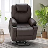 Esright Power Lift Chair Electric Recliner Sofa for Elderly, Faux Leather Electric Recliner Chair with Heated Vibration Massa