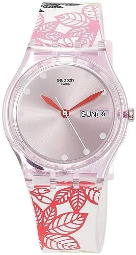 Swatch Reloj Analógico para Mujer de Cuarzo con Correa en Silicona GP702: Amazon.es: Relojes
