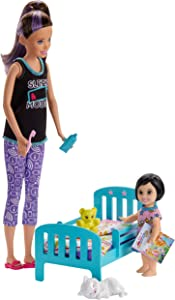Barbie Skipper Babysitters Inc. Bedtime Playset with Skipper Doll, Toddler Doll and More, Multi