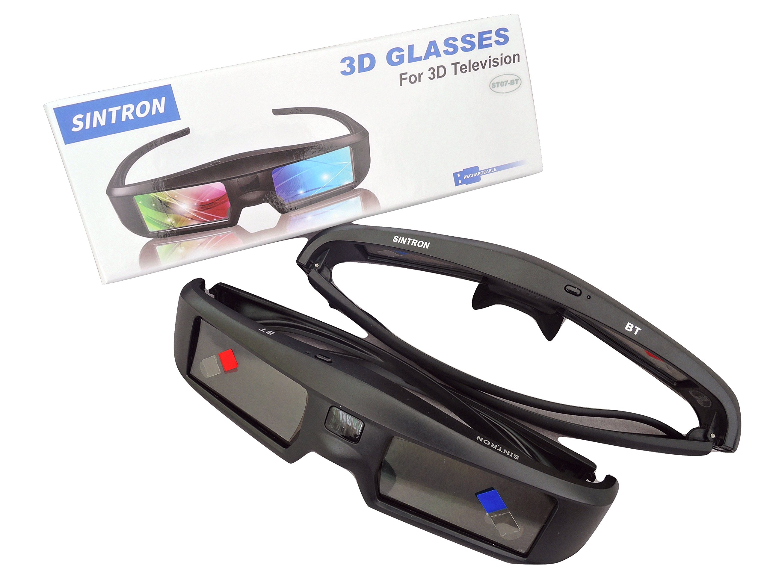 2X 3D Active Shutter Glasses Rechargeable - Sintron ST07-BT for RF 3D TV, 3D Glasses for Sony, Panasonic, Samsung 3D TV, Epson 3D projector, Compatible with TDG-BT500A TDG-BT400A TY-ER3D5MA TY-ER3D4MA by Sintron (Image #9)