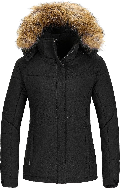 Wantdo Women's Waterproof Ski Jacket Hooded Snow Coat Mountain Winter Parka Snowboarding Jackets