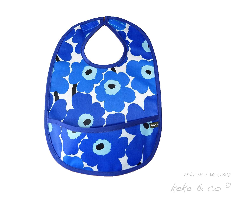 Finland blue white Handmade Baby Bib From Mini Unikko fabric