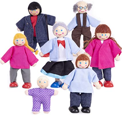 Wooden Dolls Extended Dolls Family