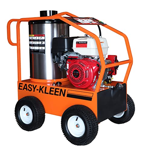 Easy-Kleen Professional 4000 PSI Gas - Hot Water Pressure Washer w Honda Engine Electric Start 12V Burner