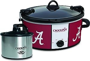 Alabama Crimson Tide Collegiate Crock-Pot Cook & Carry Slow Cooker with Bonus 16-ounce Little Dipper Food Warmer