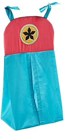 One Grace Place Magical Michayla Diaper Stacker, Pink and Turquoise