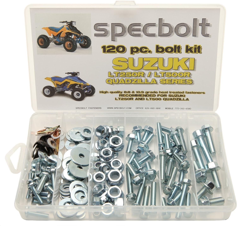 120pc Specbolt Suzuki LT250R Quadzilla ATV Bolt Kit for Maintenance /& Restoration OEM Spec Fasteners Quadracer LT500R LTR250 LT 250 500 R